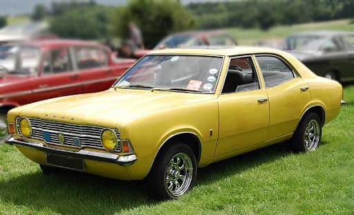 Ford Cortina Mark III (1973) – жълта и с леопардов интериор, Боно признава, че вероятно е бил пиян, когато я е купувал…