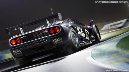 Състезателният F1 GTR с цветовете Ueno Grey от Льо Ман