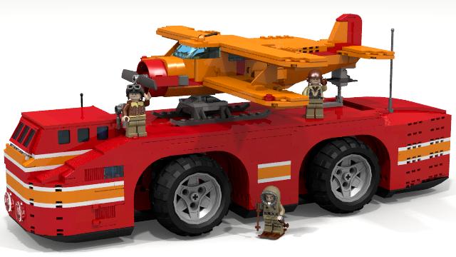 Снежният круизър, направен от блокчета Lego