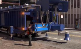 Дали този камион не е решението на всички дупки по пътищата?