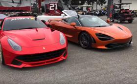 Може ли Ferrari F12 с 800 к.с. да бие McLaren 720S на драг? Видео