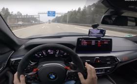 Вижте първия тест на M5 CS с до 311 км/ч на аутобана! (Видео)