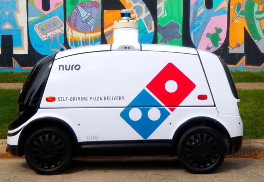 Роботчето Nuro R2 доставя пици напълно автономно