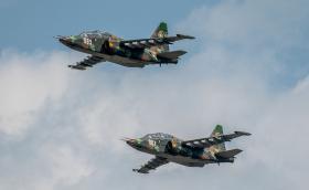 В облаците с българските щурмовици Су-25 (Галерия)