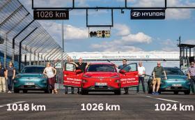 Hyundai доказа, че електрическата Kona може да мине 1000 км. Добре, но с каква скорост?