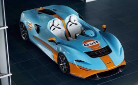 McLaren Elva в цветовете на Gulf. Не ги карат много...