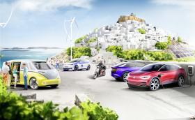 VW заменя всички коли на гръцки остров с електрички