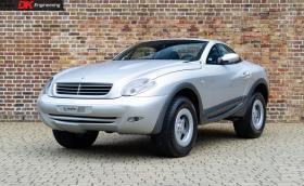 Този открит SUV се казва Heuliez Intruder и под ламарините му се крие Mercedes G-Class. Продава се