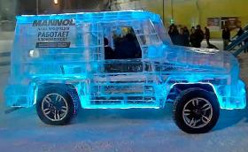 Да си направиш 6-тонен Mercedes G-Class от… сибирски лед!