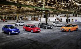 Audi празнува 25 години RS - вижте хронологията на моделите