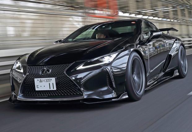 Lexus LC 500 с разпилен до 5,6 V8, 518 к.с. и широк бодикит