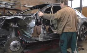 Артур Тушек съживява и смачкано Audi RS 7. Видео