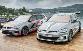 Volkswagen показа два концептуални Golf-а – единият хеч с 375 к.с., другият комби с 395 к.с.