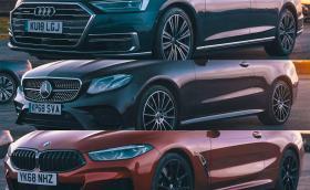 ДРАГ: BMW 840d срещу Mercedes E400d срещу Audi A8 50 TDI