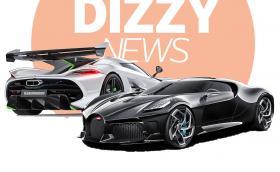 Новата ни YouTube рубрика DizzyNews стартира супер мощно с Bugatti La Voiture Noire и Koenigsegg Jesko!
