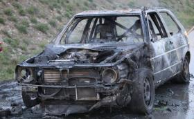 Мощният над 800 коня и вдигащ 322 км/ч VW Golf Mk2 изгоря до ламарина