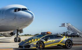 Летището в Болоня си има нова водеща кола за самолетите. Huracan е!