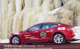 Германец мина милион километра със своята Tesla Model S P85 и продължава да я кара