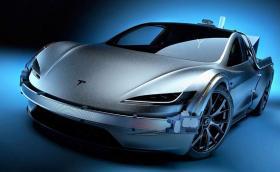 Ето как ще изглежда Tesla Roadster с реактивните си двигатели. Ховърбордът влиза в комплекта...