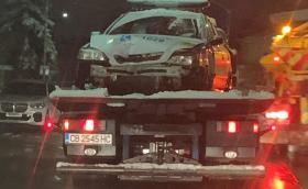 КАТ загуби патрулка в неравната борба с дрифтърите на Витоша