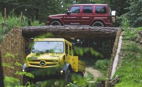 Mercedes G-Class и Unimog - ултимативното офроуд дуо излезе на разходка