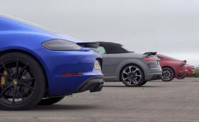 Новата Supra застана на старта срещу Porsche Cayman GTS, Audi TT RS и Alpine A110