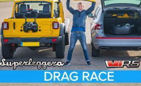 Може ли Jeep Wrangler да бие Skoda Kodiaq RS... на пътя? Видео
