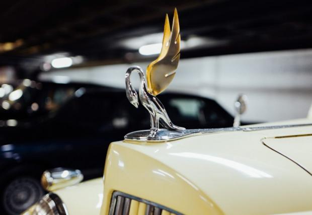 Емблемата на Super 8 Phaeton се различава от тези на останалите модели на марката. Тук имаме супер елегантен пеликан, докато при останалите коли, орнаментът е крилата жена, държаща колело.