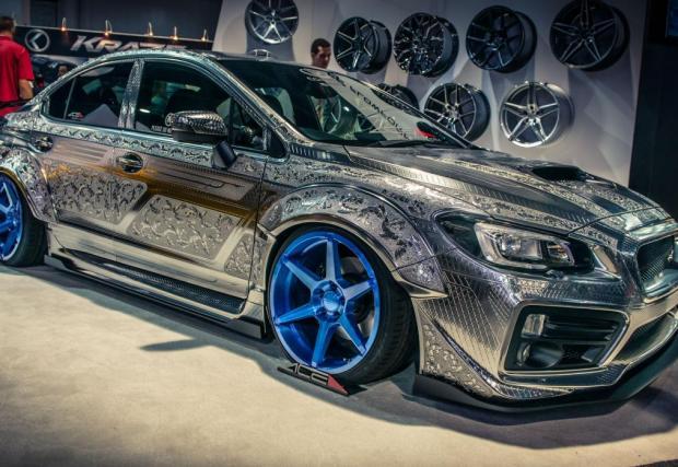 Kuhl Racing Subaru WRX STI. Дело на същите хора, които са гравирали и златния GT-R. Отново, респект към изработката и търпението.