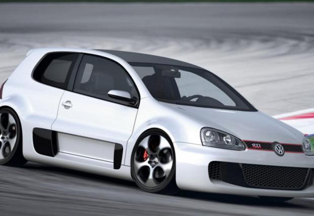 GTI W12, фенменалната концепция, която VW направи за фестивала във Вьортерзее.. Монтиран централно 6-литров битурбо W12, задна спомагателна рама от Audi R8 и задна ос от Lambo Gallardo. Определено е най-абсурдният Golf, който VW някога са правили.