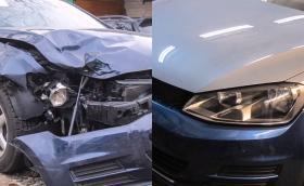 VW Golf Mk7: пътят от катастрофата до Горубляне и село Труд. Видео