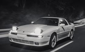 1989 Toyota Supra 3.0 Turbo Mk3 в Белград. Колата разполага с 238 'konjskih snaga'