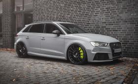 Audi RS 3 Clubsport Project от Neidfaktor със седалки от R8 и детайли в Acid Green
