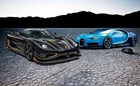 Koenigsegg Agera RS срещу Bugatti Chiron: всички факти. Коя кола предпочитате?