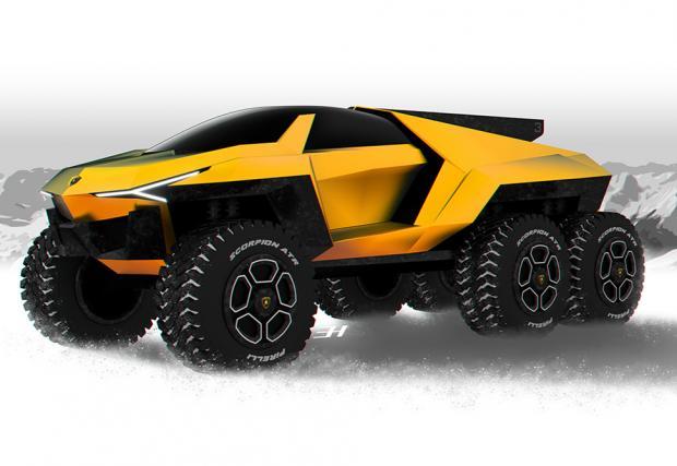 Raton е 3-осно Lamborghini Urus