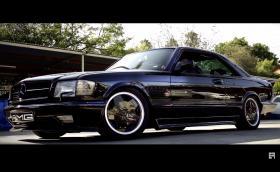 Черен и гангстерски: 1988 Mercedes-Benz 560 SEC AMG. Видео