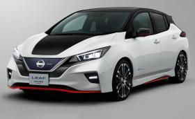 Nissan Leaf… Nismo. Точно така, електрическият хеч става ел. хотхеч, поне визуално
