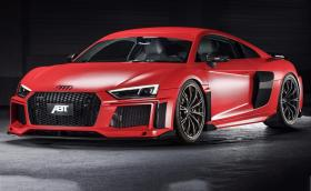 ABT Audi R8 V10 plus с много карбон, 630 коня и 50 кг надолу. Изглежда приятно. Галерия и инфо