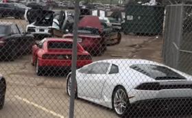Десетки екзотични коли ще бъдат унищожени, след като ураганът Харви  ги потопи. Видео и галерия