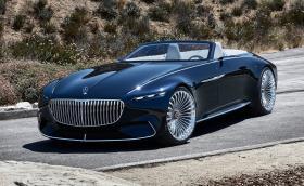 Mercedes-Benz Vision Maybach 6 Cabriolet Concept е свръх помпозен кабриолет със 750 коня и чаши и чинии под предния капак