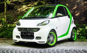 В този Smart Fortwo Brabus Cabrio има повече карбон, отколкото Vilner слага в Merc G-Class
