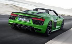 Audi R8 Spyder V10 plus е новият атмосферен сешоар с 610 коня. Прави ги при 8700 об/мин