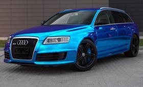"""Audi RS 6 Avant в син хром. """"Да"""" или """"не""""? Галерия"""