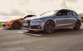 Audi RS 6 Avant е по-бързо на драг от Nissan GT-R. Галерия и видео