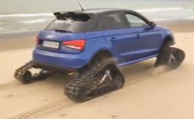 """Столично Audi S1 с вериги в стил """"танк"""" вилнее по родното черноморие. Видео и галерия"""