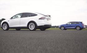 Може ли дизелово Audi SQ7 да победи Tesla X 100D в автомобилен петобой? Видео отговаря на въпроса