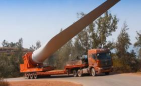 Как се пренася 52-метров елемент тежащ 80 тона до върха на планина? Китайците демонстрират. Галерия и видео