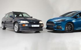 Tози 1992 Ford Escort RS Cosworth или новия Focus RS? И двата са 4x4, и двата са на една цена