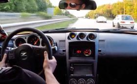 VW Golf I наказва Nissan 350Z и Porsche 911 GT3 на аутобана. Видео