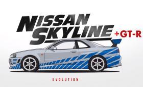 Еволюцията на култовия Nissan Skyline – 60 години история в двуминутно видео